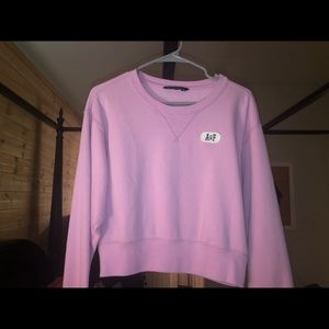 Light Pink Abercrombie Loose fitting sweater